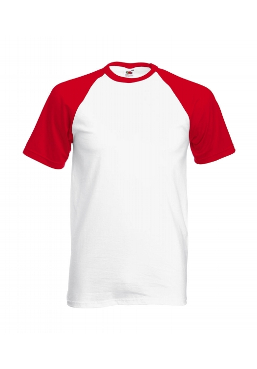Baseball T-white-red