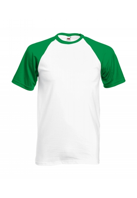 Baseball T-white-kelly-green