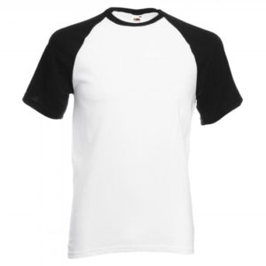 Baseball T-white-black