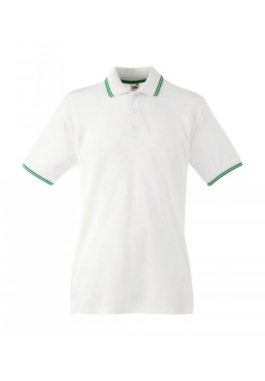 Tipped Polo_white-kelly-green