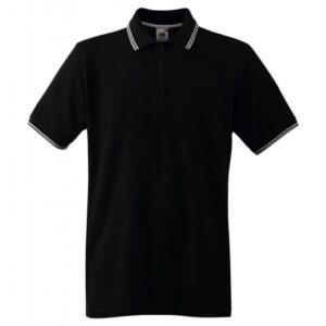 Tipped Polo_black-white