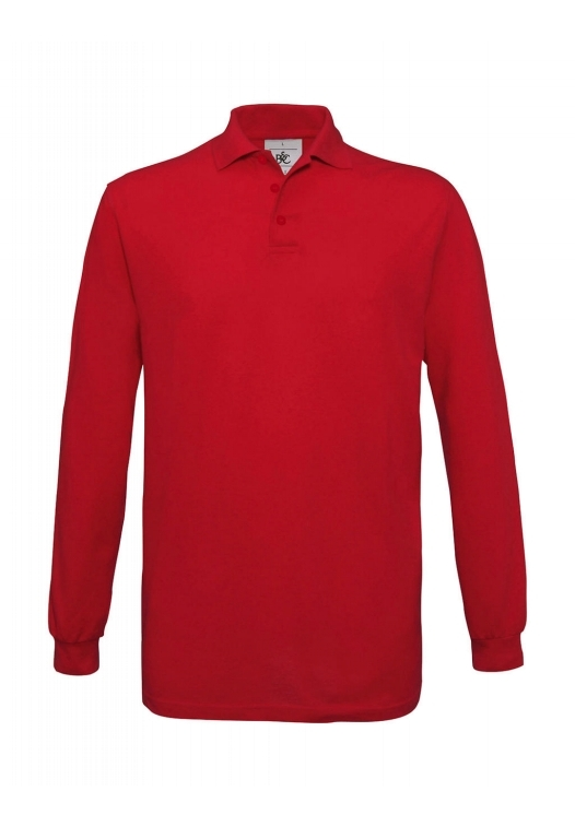 Safran Polo Longsleeve PU414_red