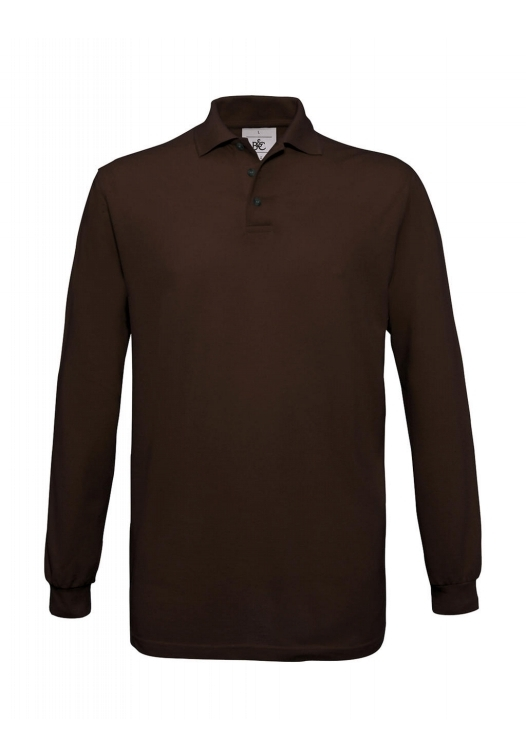 Safran Polo Longsleeve PU414_brown