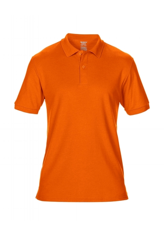 DryBlend Double Piqué Polo_safety-orange