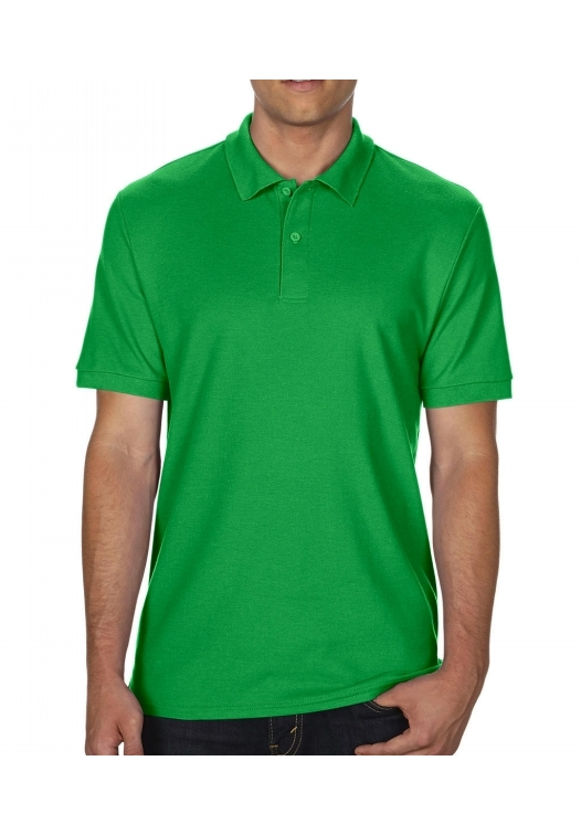 DryBlend Double Piqué Polo_irish-green