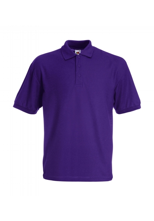 Piqué Polo Mischgewebe_purple
