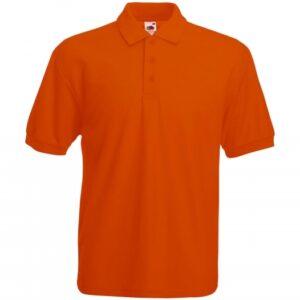 Piqué Polo Mischgewebe_orange