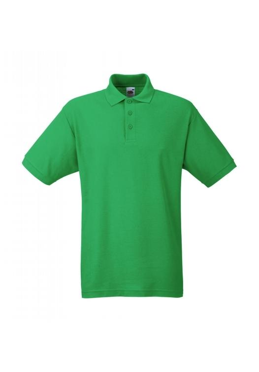 Piqué Polo Mischgewebe_kelly-green