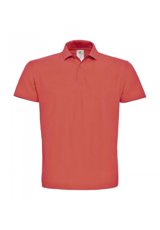 Piqué Polo Shirt PUI10_pixel-coral