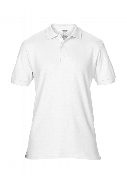 Premium Cotton Double Piqué Polo_white