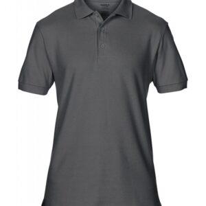 Premium Cotton Double Piqué Polo_charcoal