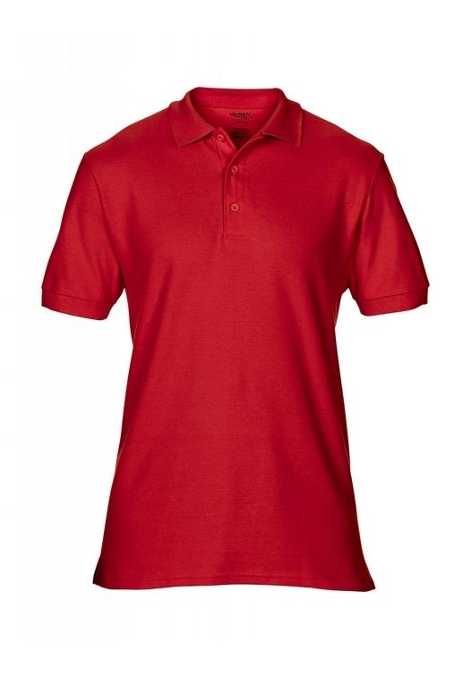 Premium Cotton Double Piqué Polo_red