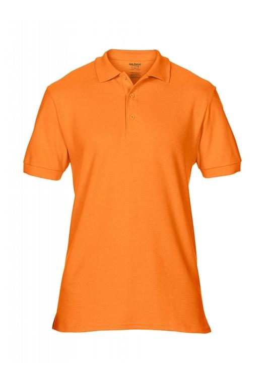 Premium Cotton Double Piqué Polo_tangerine