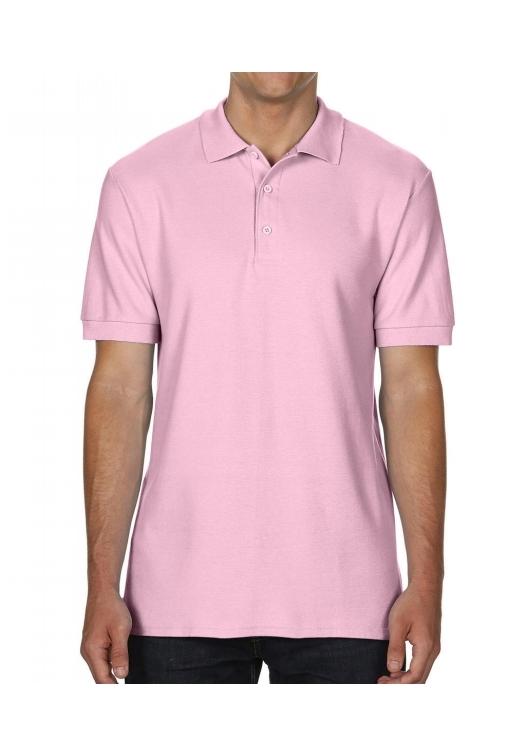 Premium Cotton Double Piqué Polo_light-pink