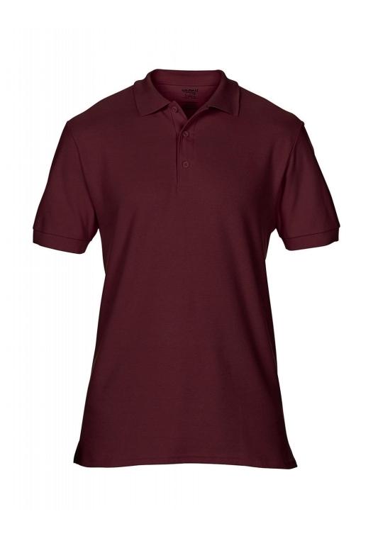 Premium Cotton Double Piqué Polo_maroon
