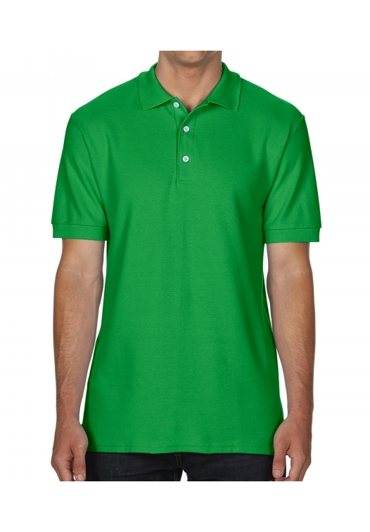 Premium Cotton Double Piqué Polo_irish-green