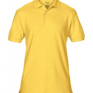 Premium Cotton Double Piqué Polo_daisy-yellow