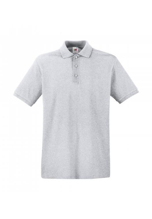 Premium Polo_heather-grey