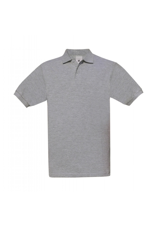 Piqué Polo Safran PU409_heather-grey