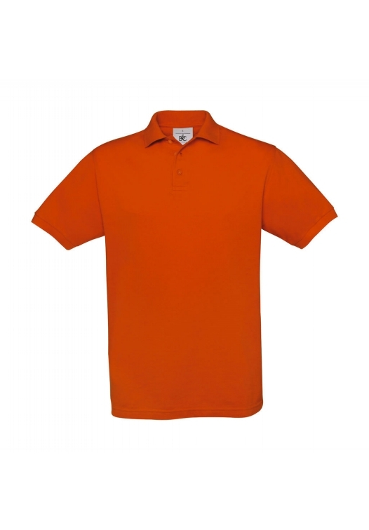 Piqué Polo Safran PU409_pumpkin-orange