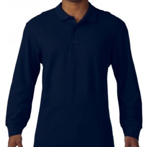 Premium Cotton Adult Double Piqué Polo LS_navy