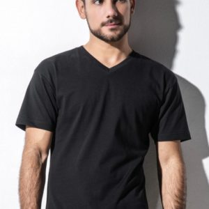 James – Men's Organic V-Neck T-Shirt_Titel