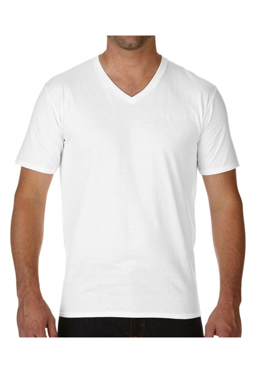 Premium Cotton Adult V-Neck T-Shirt_white