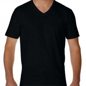 Premium Cotton Adult V-Neck T-Shirt_black