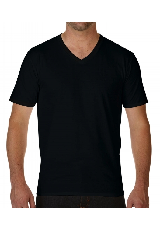 Premium Cotton Adult V-Neck T-Shirt_black