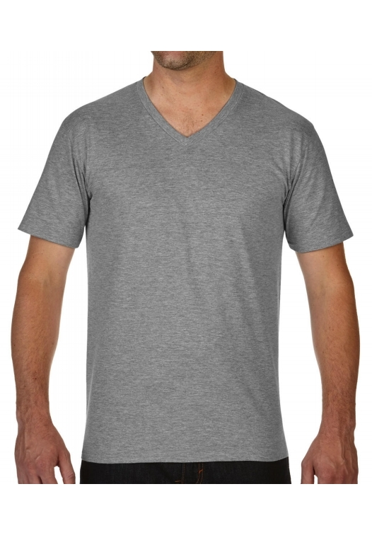 Premium Cotton Adult V-Neck T-Shirt_sport-grey