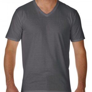 Premium Cotton Adult V-Neck T-Shirt_charcoal