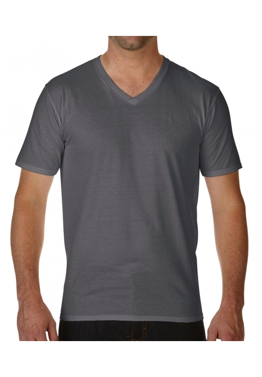 Premium Cotton Adult V-Neck T-Shirt_charcoal