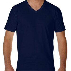 Premium Cotton Adult V-Neck T-Shirt_navy