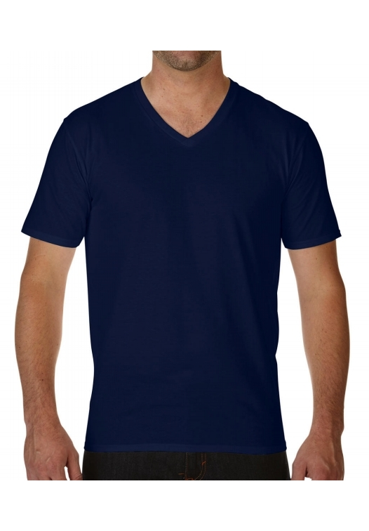 Premium Cotton Adult V-Neck T-Shirt_navy