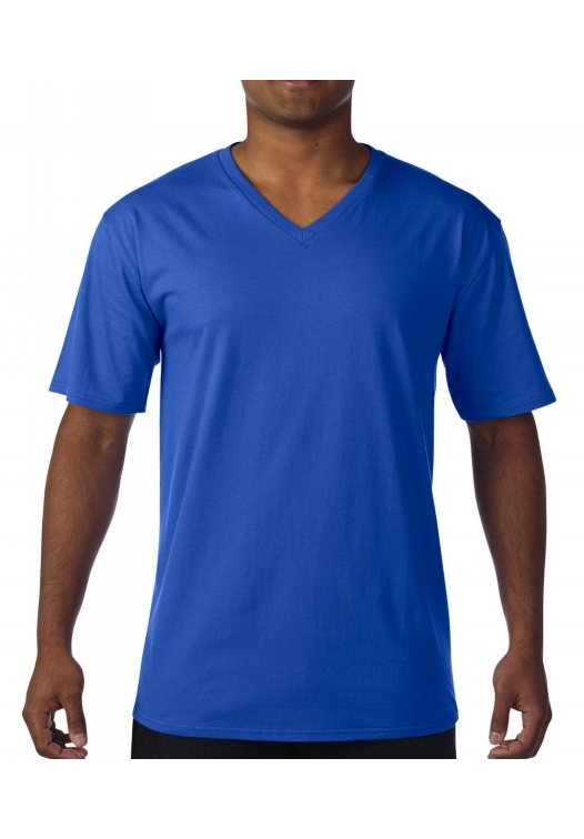 Premium Cotton Adult V-Neck T-Shirt_royal