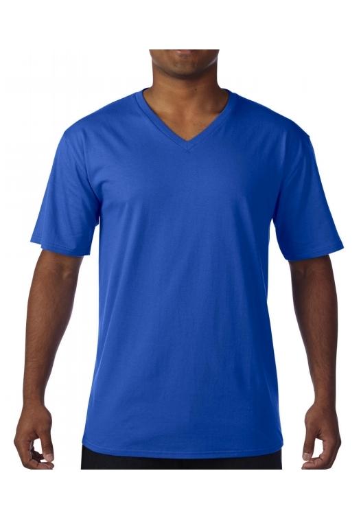 Premium Cotton Adult V-Neck T-Shirt_royal