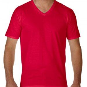 Premium Cotton Adult V-Neck T-Shirt_red