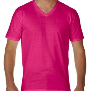 Premium Cotton Adult V-Neck T-Shirt_helicona