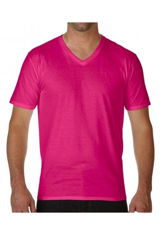 Premium Cotton Adult V-Neck T-Shirt_helicona