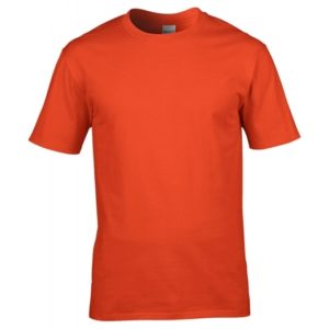 Premium Cotton Ring Spun T-Shirt_orange