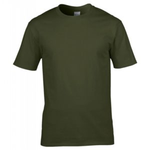 Premium Cotton Ring Spun T-Shirt_military-green