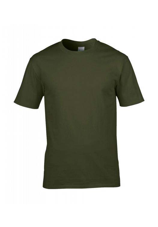 Premium Cotton Ring Spun T-Shirt_military-green