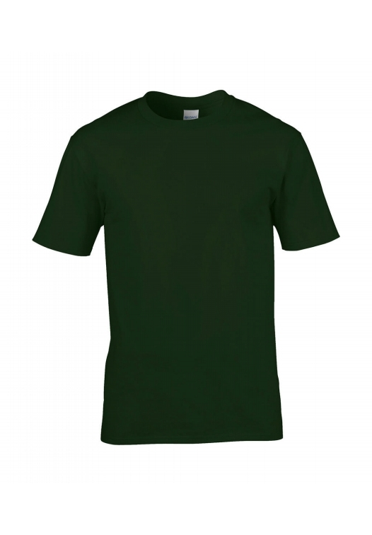 Premium Cotton Ring Spun T-Shirt_forest-green