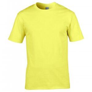 Premium Cotton Ring Spun T-Shirt_cornsilk