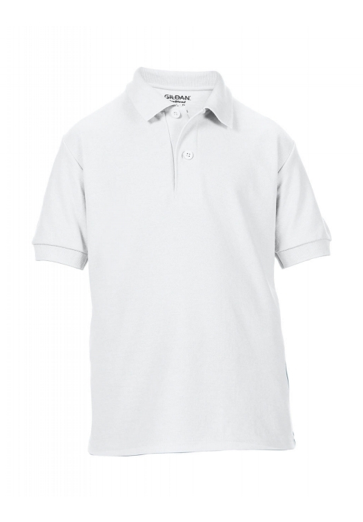 DryBlend Youth Double Piqué Polo_white