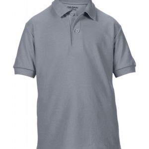 DryBlend Youth Double Piqué Polo_charcoal