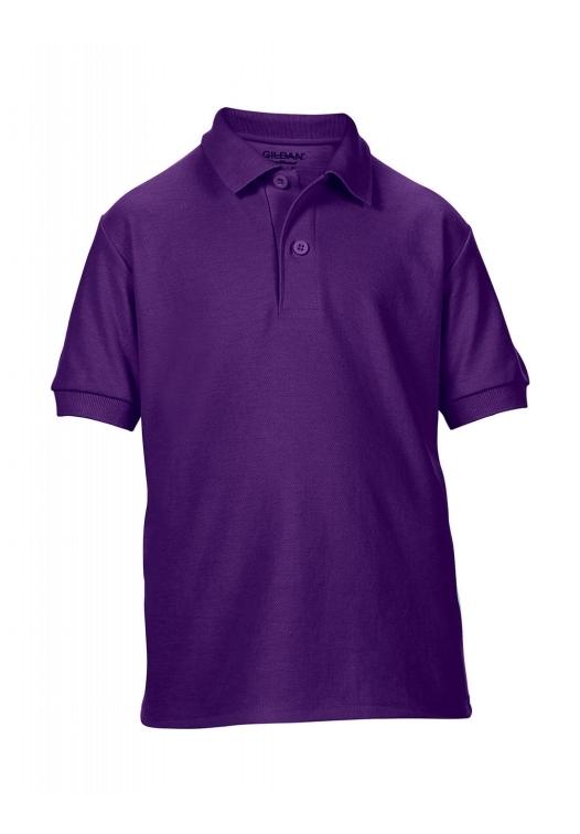 DryBlend Youth Double Piqué Polo_purple