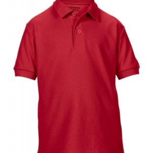 DryBlend Youth Double Piqué Polo_red