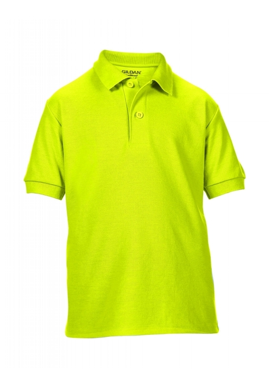 DryBlend Youth Double Piqué Polo_safety-green