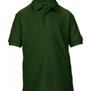 DryBlend Youth Double Piqué Polo_forest-green
